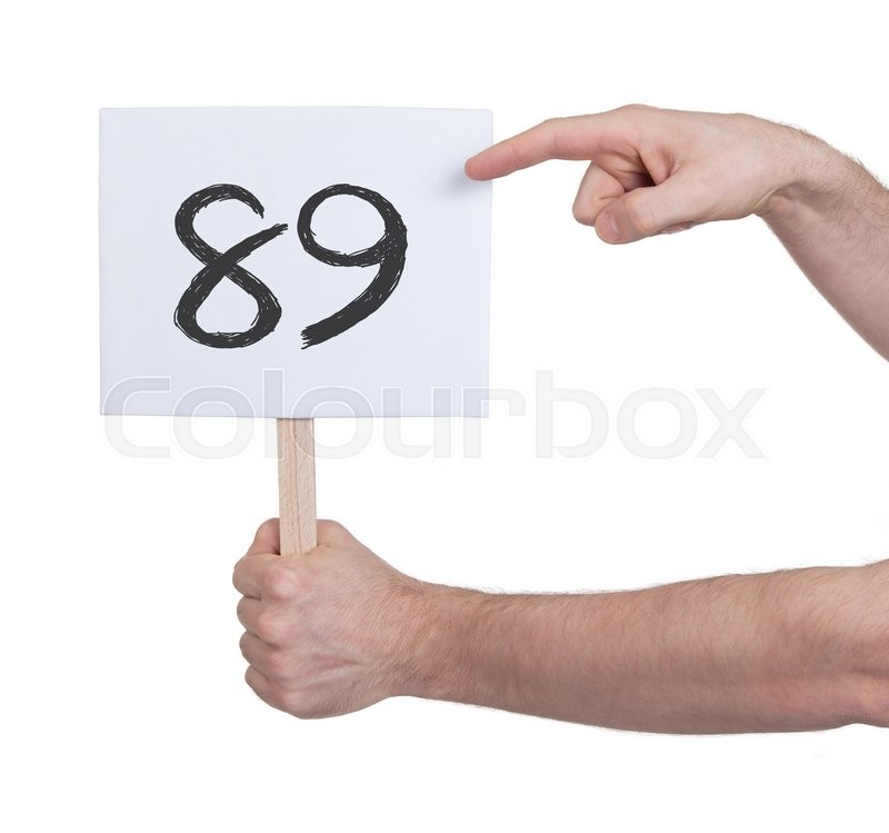 Stock image of 'Sign with a number, isolated on white - 89'