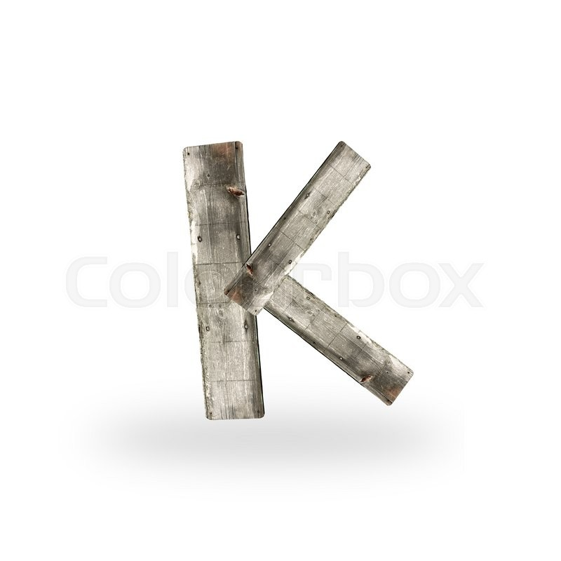 Stock image of 'Wooden letter K on white'