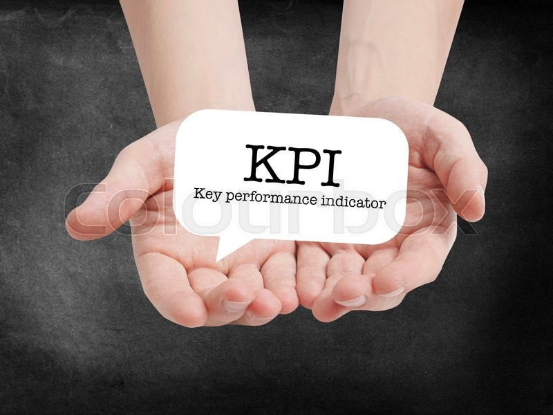 Stock image of 'KPI written on a speechbubble'