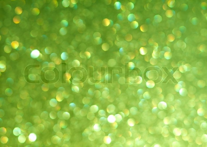Abstract background of green holiday lights | Stock Photo ...