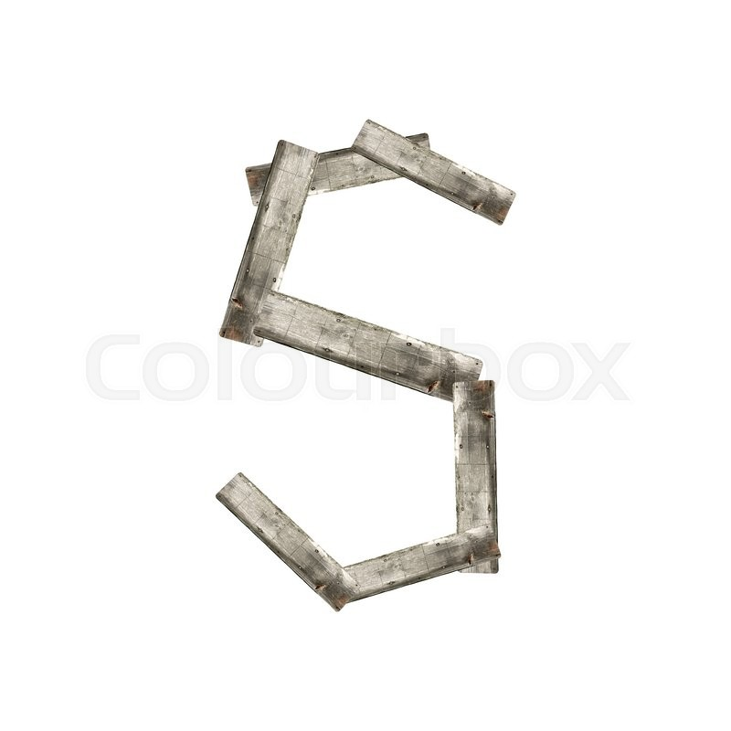Stock image of 'The letter S on white'