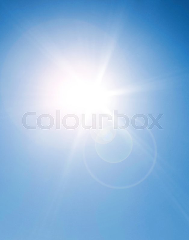 Stock image of 'The sun shining on a coudless day'