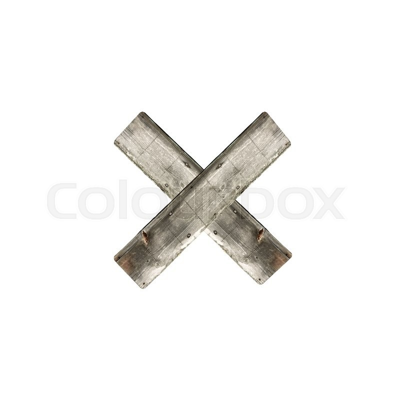 Stock image of 'Letter X on white'