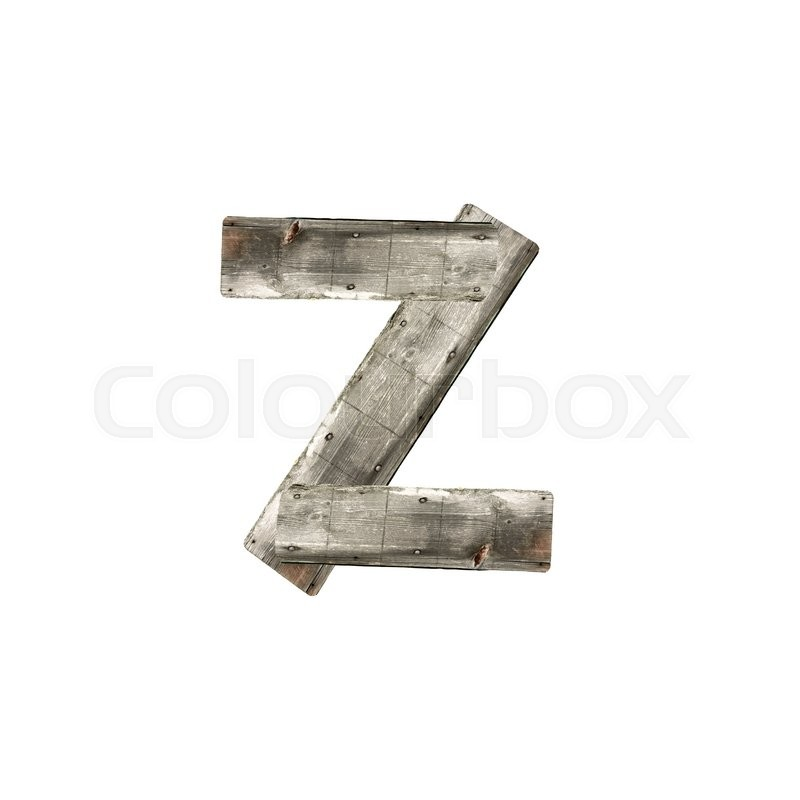 Stock image of 'Letter Z on white'