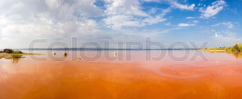 Stock image of 'Salt lake, called  La Lagunas de la Mata, Torrevieja, Spain'