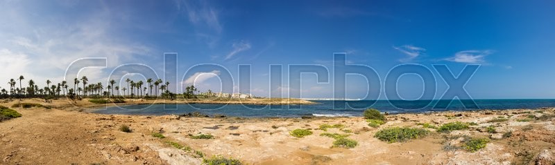 Stock image of 'The coast of Mediterranean sea, Torrevieja, Spain'