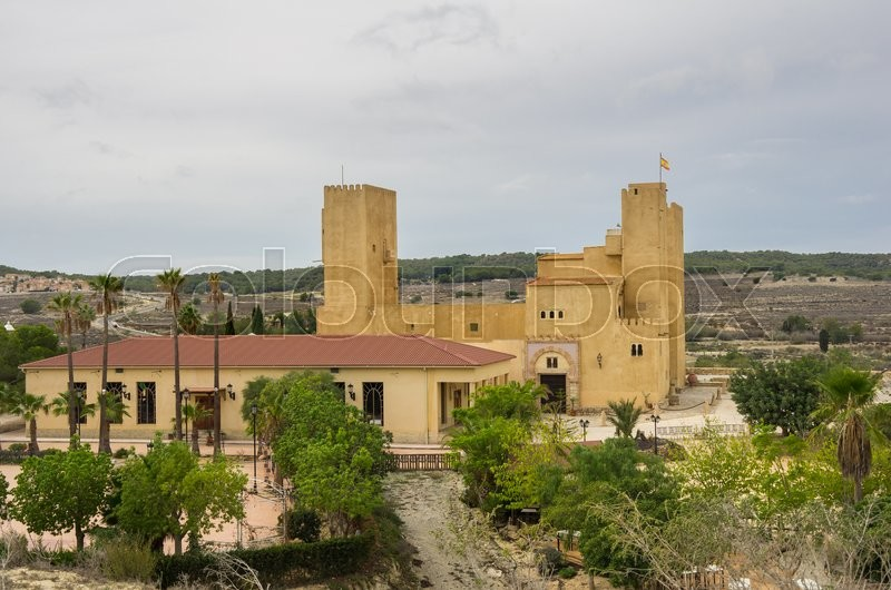Stock image of 'Old castle in province of Alicante, Spain'