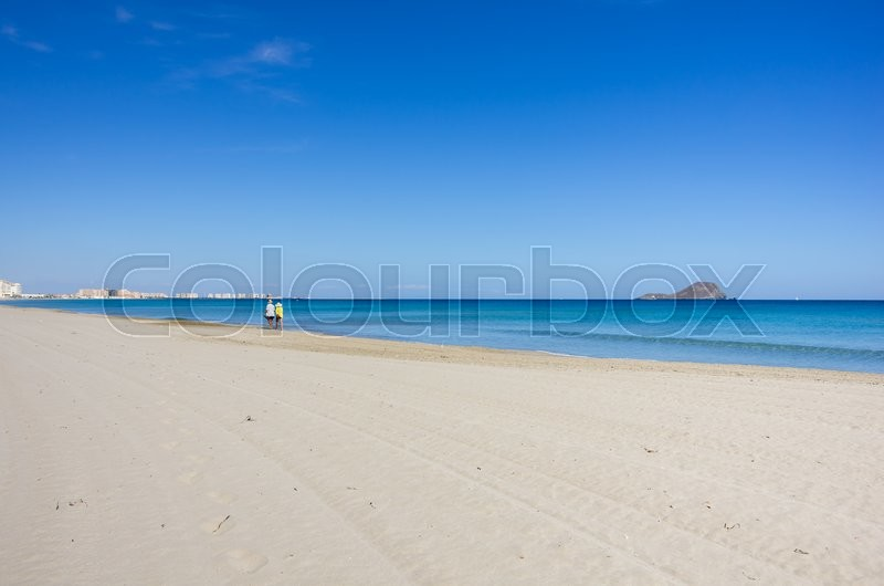 Stock image of 'The coast of Mediterranean sea, La Manga, Spain'