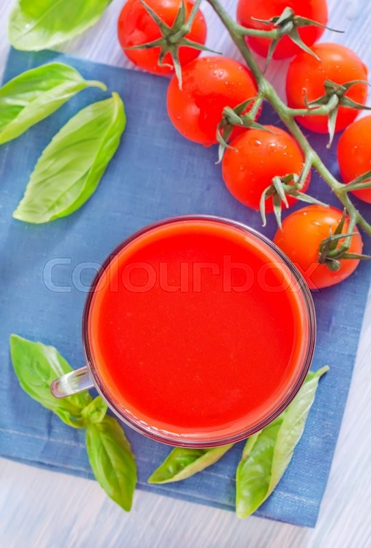 Stock image of 'Tomato juice'