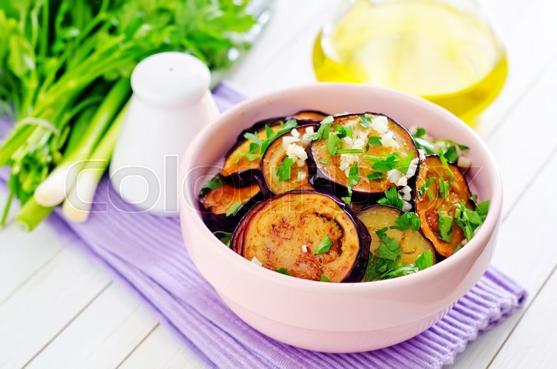 Stock image of 'Fried eggplant'