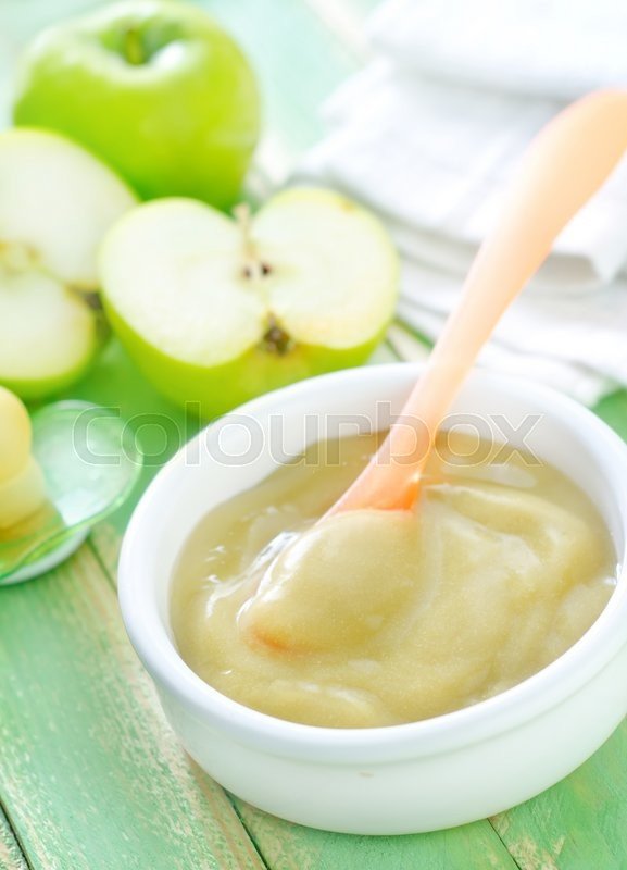 Stock image of 'Baby food in bowl'