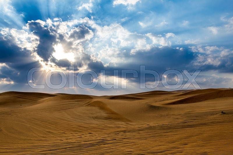 Stock image of 'Desert in Dubai, United Arab Emirates'