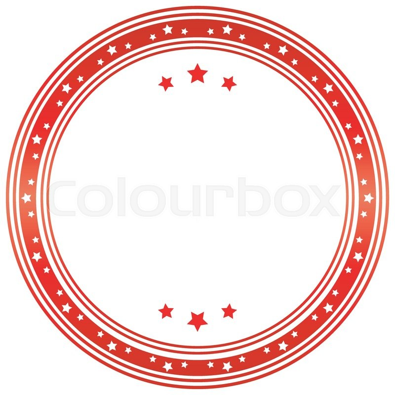 Seal template in red and white tones. Vector image. | Stock Vector ...