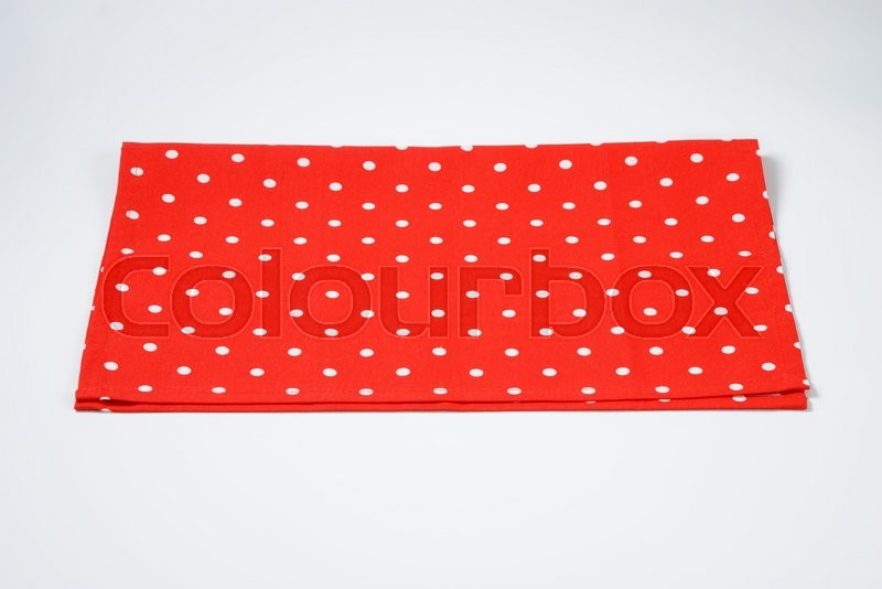 Stock image of 'red and white polka dot placemat'