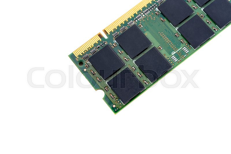 Stock image of 'Closeup details of computer memory (RAM)'