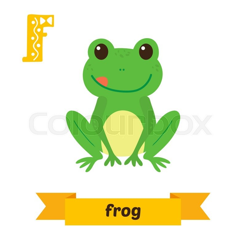 animals that start with the letter f frog f letter children animal alphabet in vector 20456