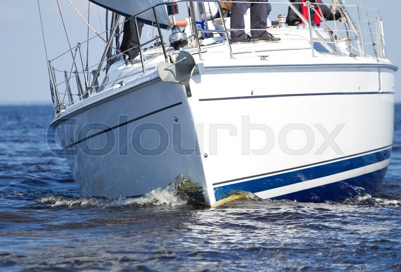Stock image of 'Sailing yacht race on the sea'