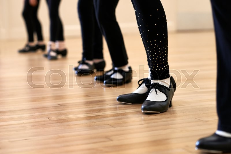 Stock image of 'Close Up Of Feet In Children's Tap Dancing Class'