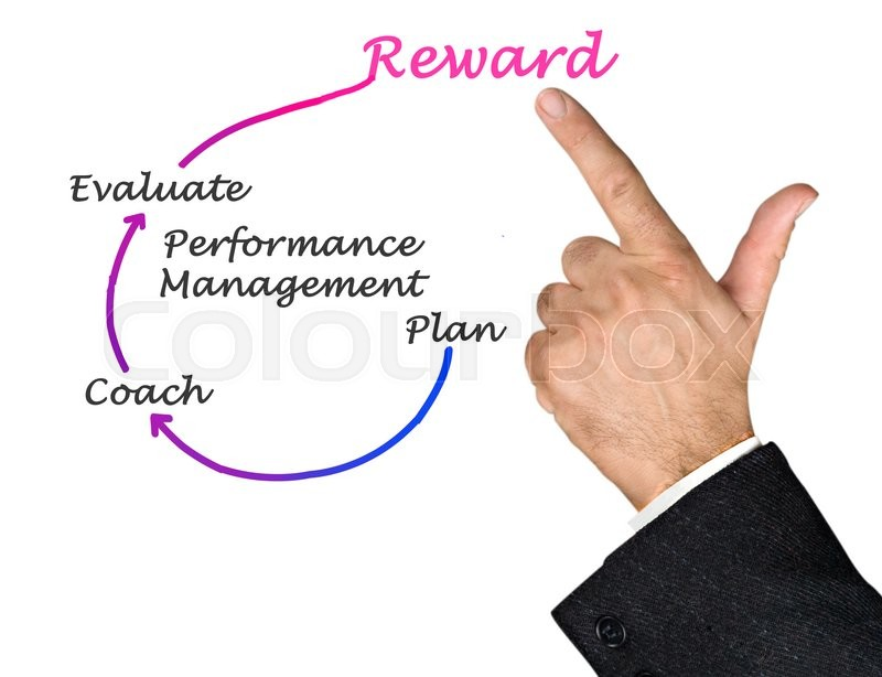 Stock image of 'Diagram of Performance Management '