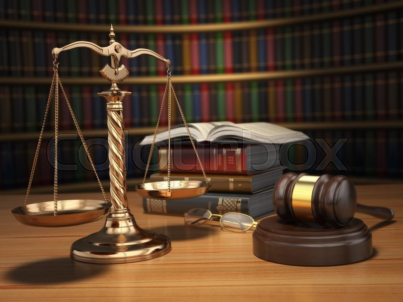 Justice concept. Gavel, golden scales ... | Stock Photo ...