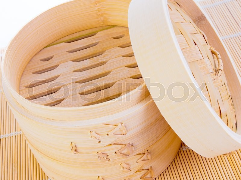 Stock image of 'Chinese bamboo steamer'