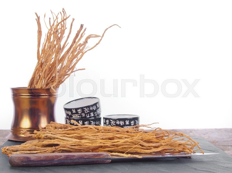 Stock image of 'Chinese cooking ginseng'