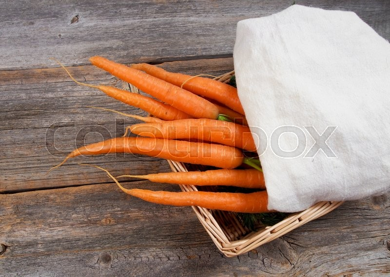 Stock image of 'Fresh carrots from the farm or garden'