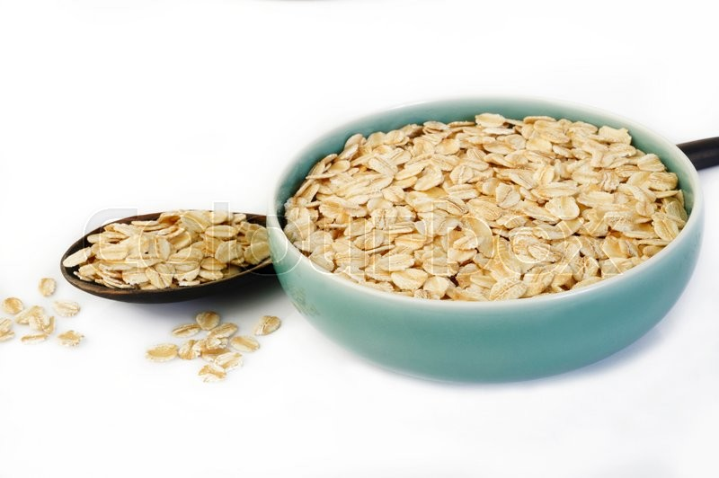 Stock image of 'Oats in bowl'