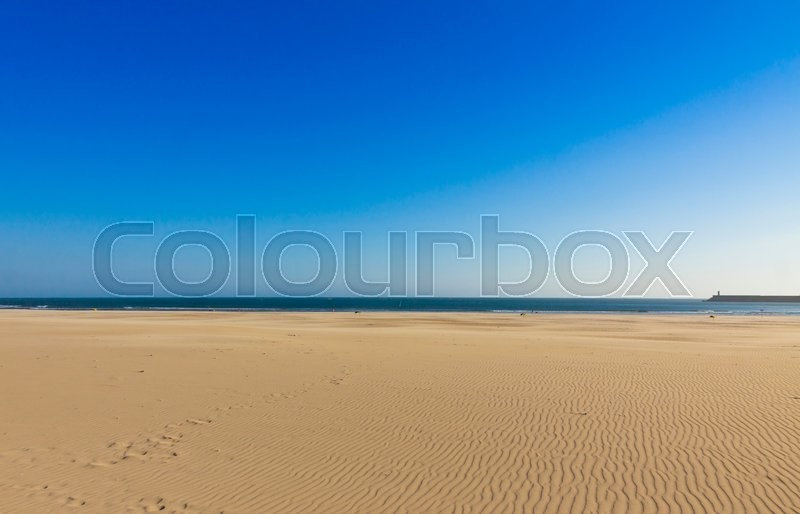 Stock image of 'Matosinhos beach (Praia de Matosinhos) in City of Porto, Portugal'