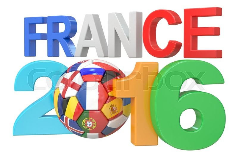 Stock image of 'Football France 2016 concept, 3D rendering'