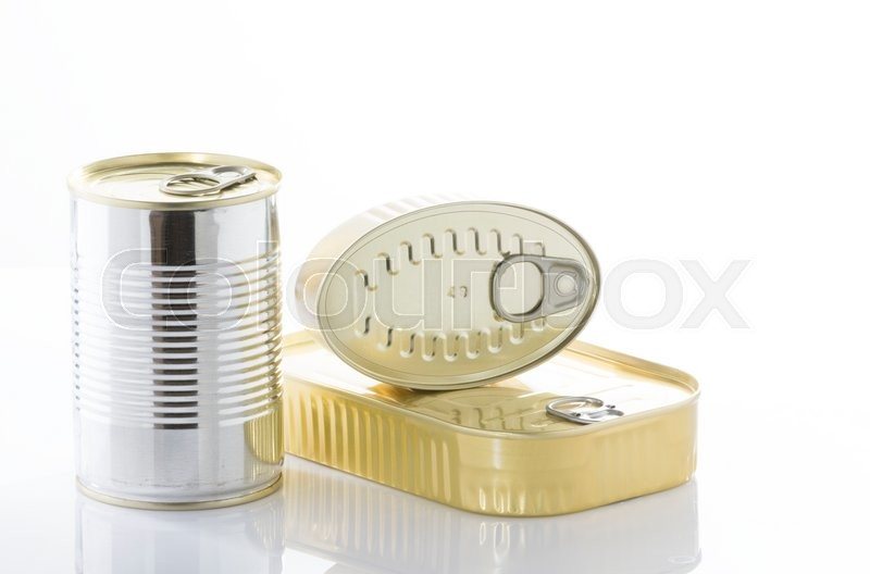 Stock image of 'Different kinds of food cans used for conserving food'