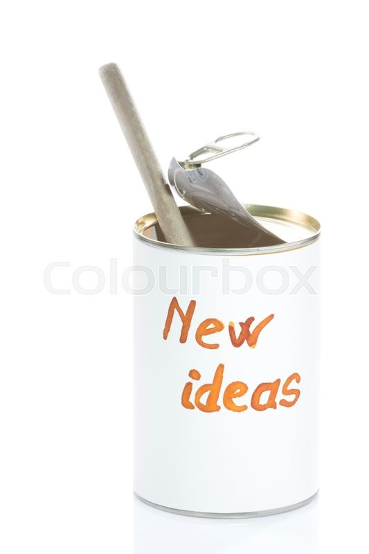 Stock image of 'Can totally empty of new ideas, metaphorical photo for business and creative people'