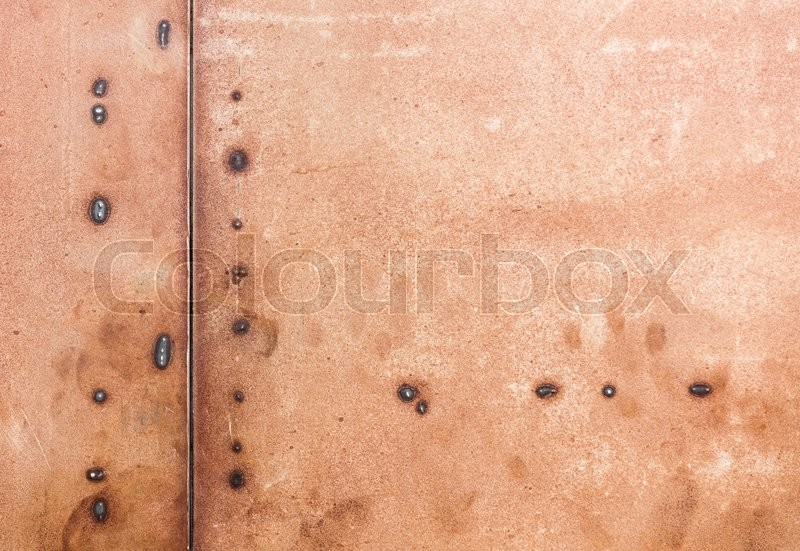 Stock image of 'iron texture with melted points'