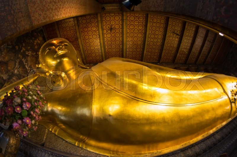 Stock image of 'Reclining Buddha at Wat Pho, Bangkok, Thailand'