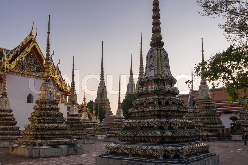 Stock image of 'Wat Pho is one of the most popular tourists destination in Bangkok, Thailand'