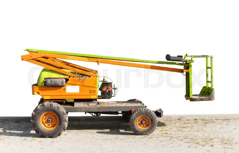 Stock image of 'Electric crane for tree pruning or other works of high'