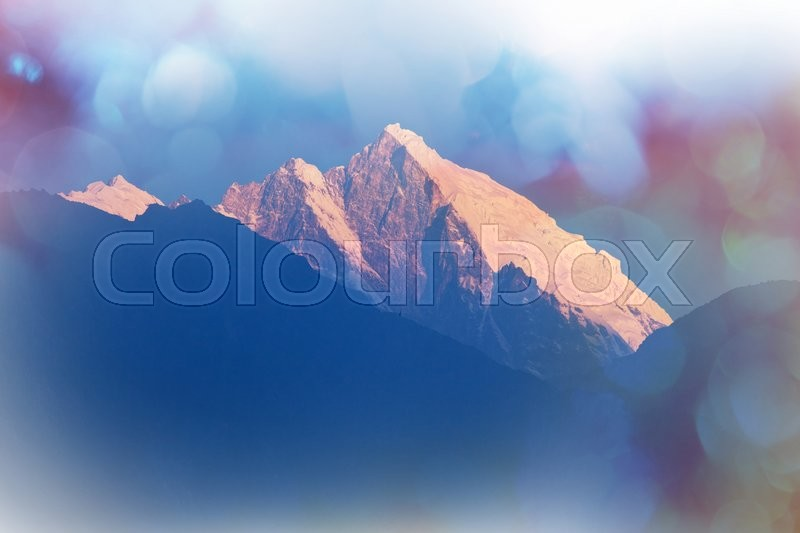 Stock image of 'Mountains in Sagarmatha region, Himalaya'