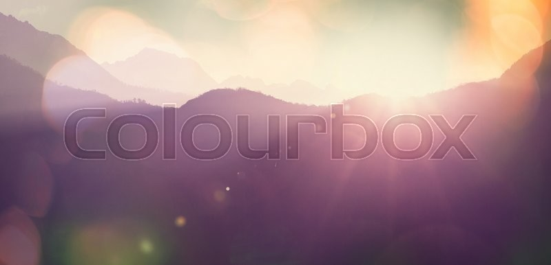 Stock image of 'Mountains silhouette'