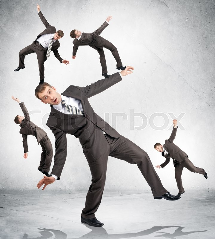 Stock image of 'Giant business man holding little men. Politic in business'