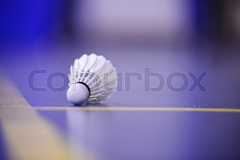 Stock image of 'Shuttlecock and Badminton Court'