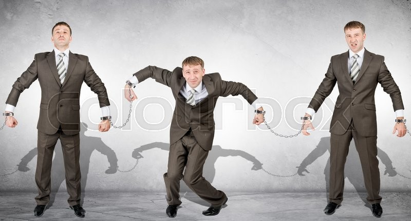 Stock image of 'Handcuffs, white collar crime, arrest of people'