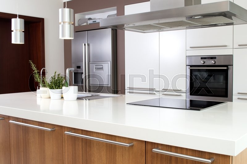 Stock image of 'Conception of modern kitchen with household goods.'