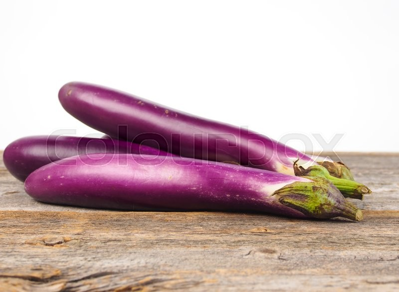 Stock image of 'Asian red eggplant'