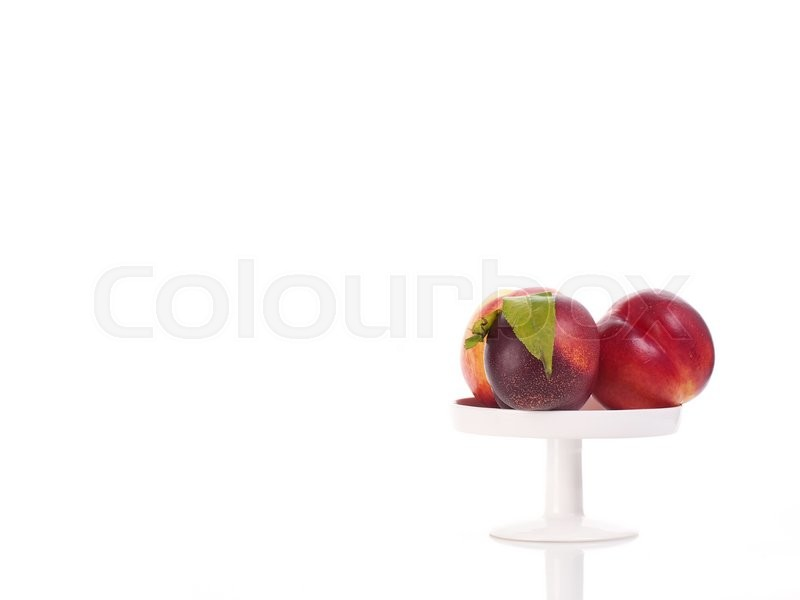 Stock image of 'Fresh delicious nectarine'