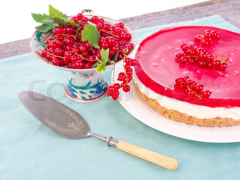 Stock image of 'Delicious redcurrant cake'