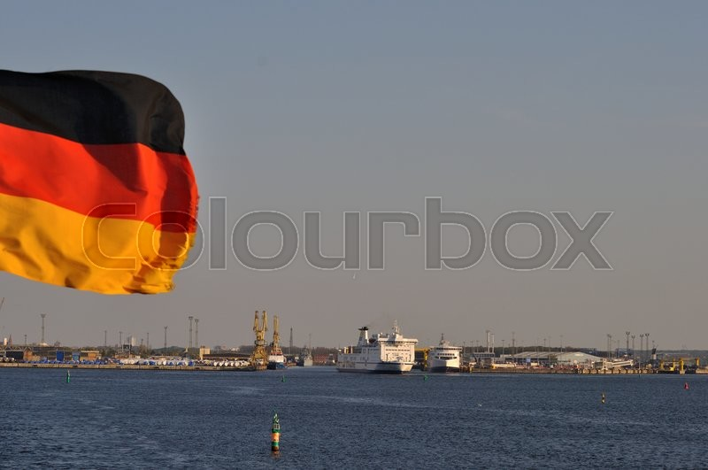 Stock image of 'rostock, germany, indsejling'