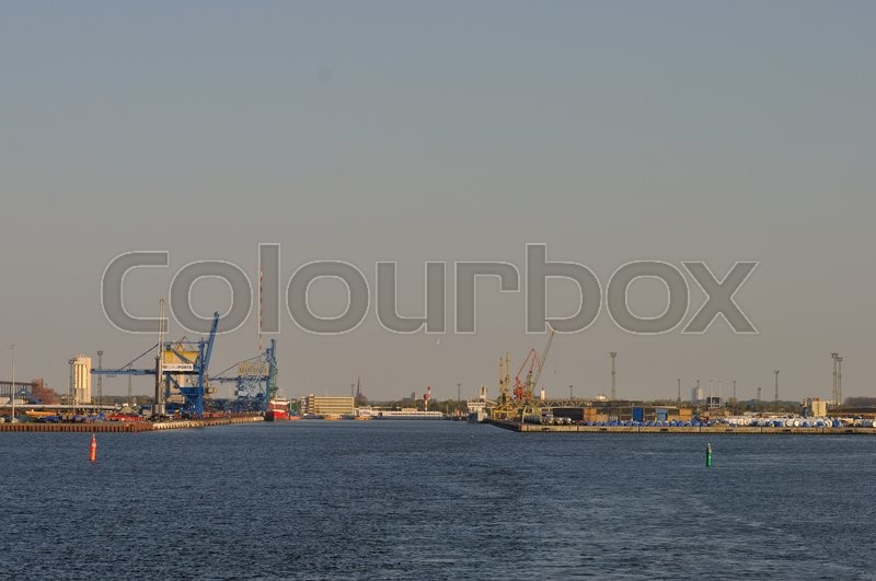 Stock image of 'rostock, germany, havn'