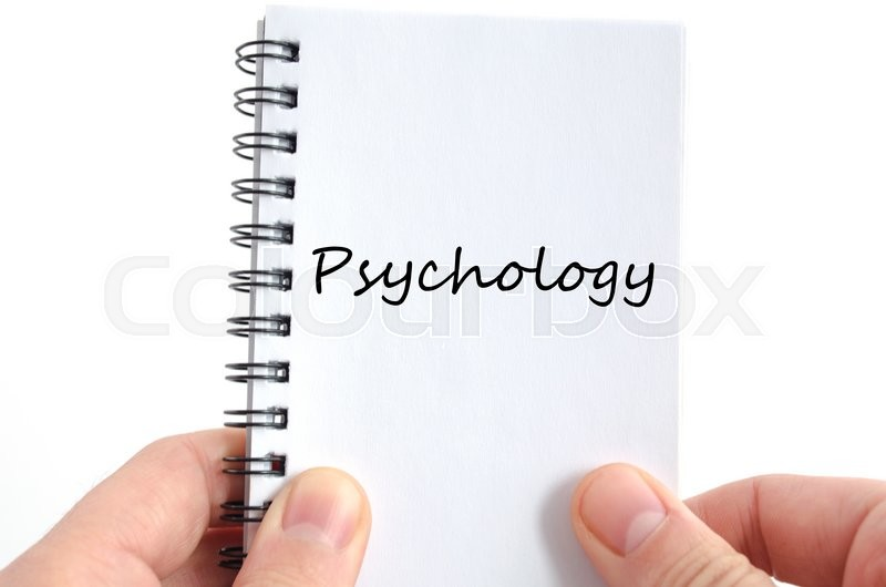 Stock image of 'Psychology text concept isolated over white background'