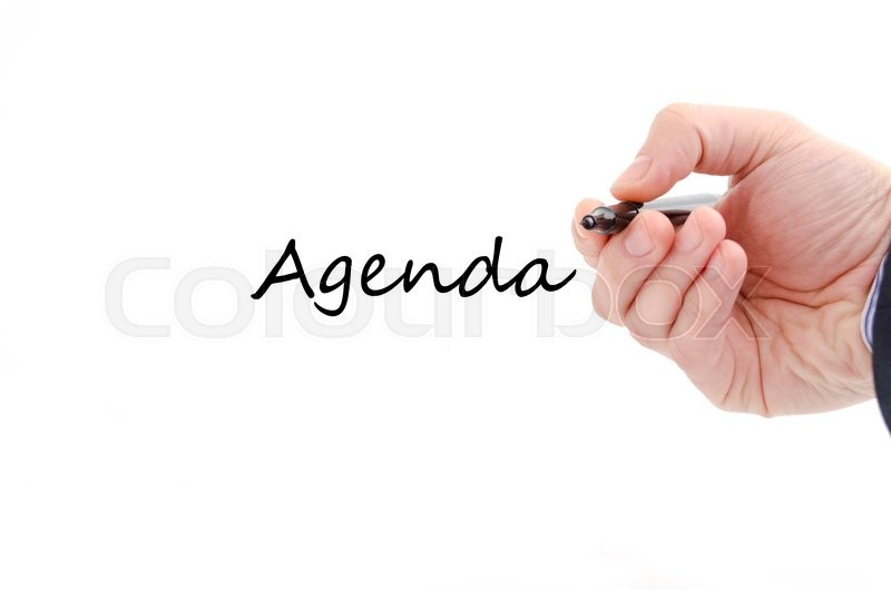 Stock image of 'Agenda text concept isolated over white background'