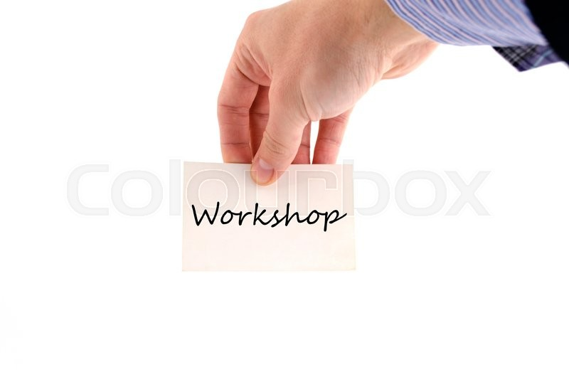 Stock image of 'Workshop text concept isolated over white background'